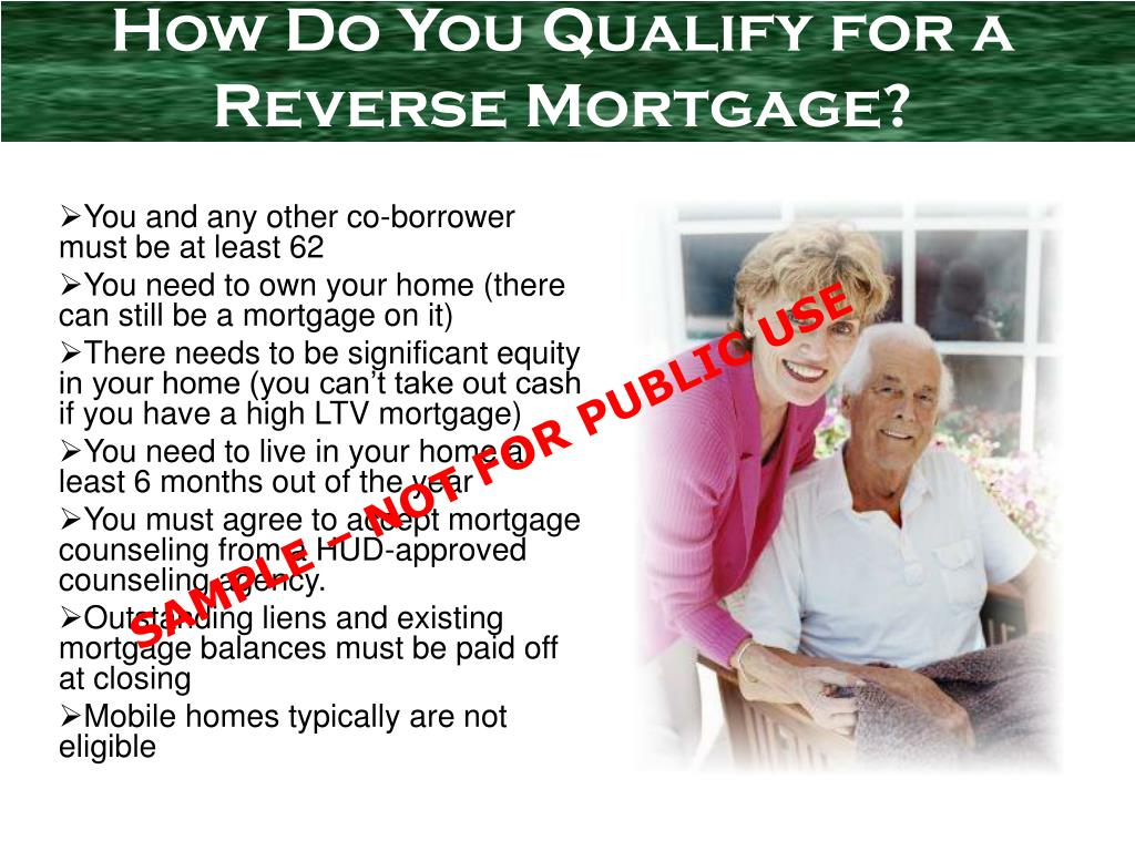 How Do You Qualify for a Reverse Mortgage?