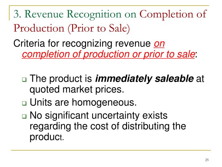 3. Revenue Recognition on
