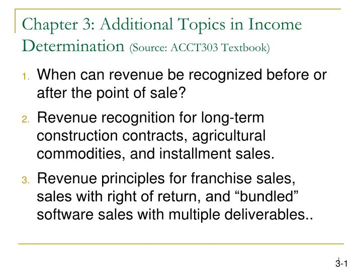 Chapter 3: Additional Topics in Income Determination