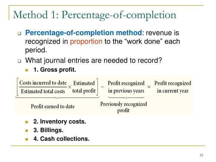 Method 1: Percentage-of-completion