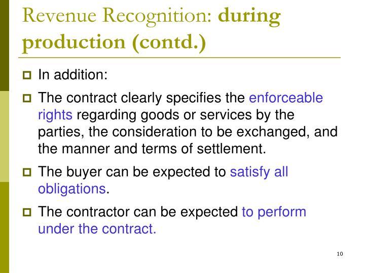 Revenue Recognition: