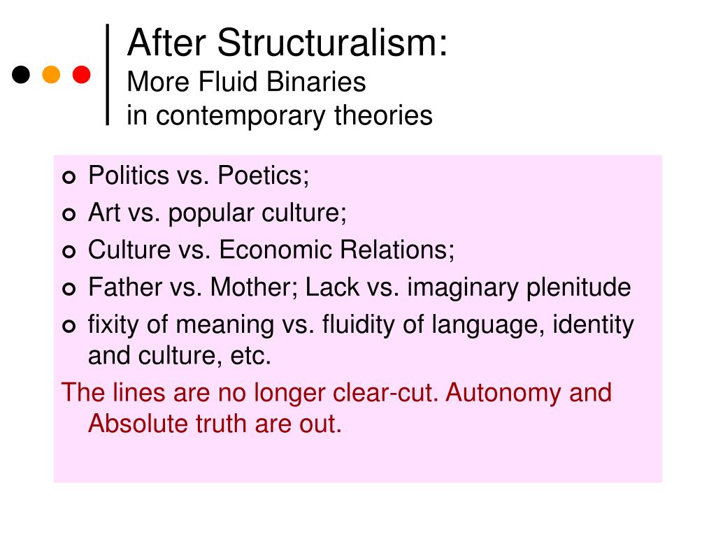 After Structuralism: