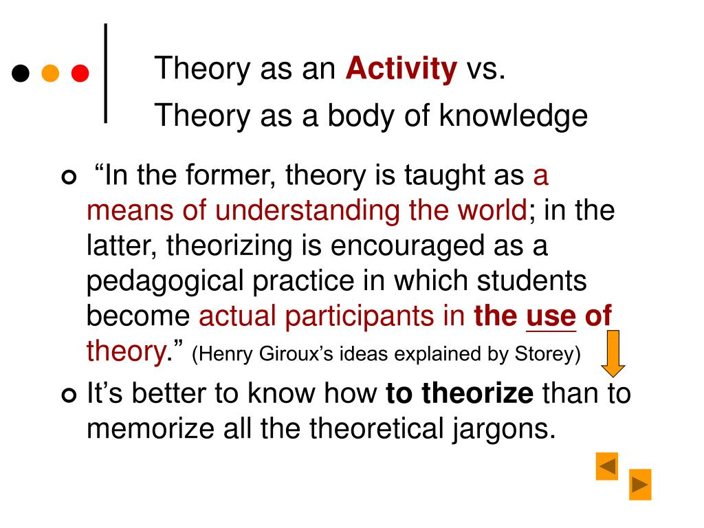 Theory as an