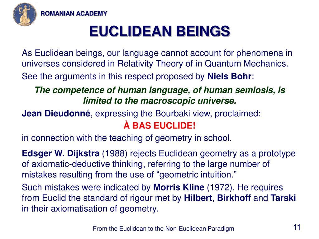 EUCLIDEAN BEINGS