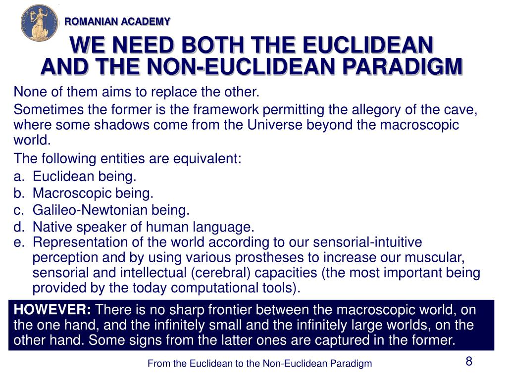 WE NEED BOTH THE EUCLIDEAN