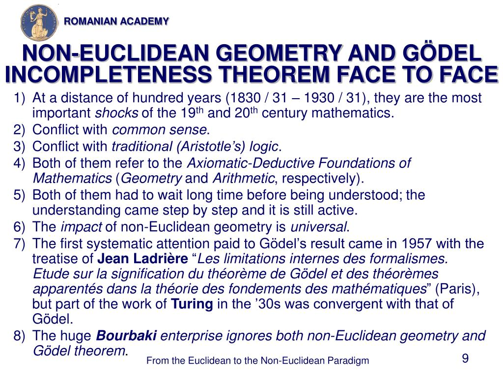 NON-EUCLIDEAN GEOMETRY AND G