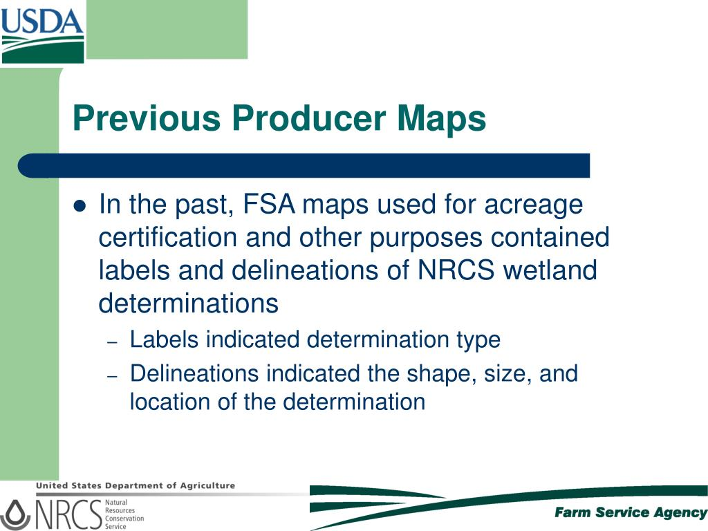 Previous Producer Maps