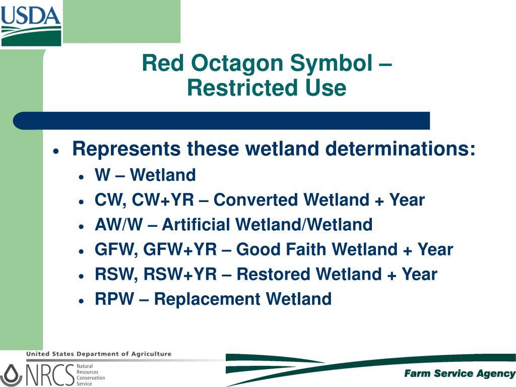 Red Octagon Symbol –
