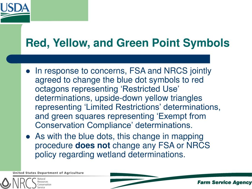 Red, Yellow, and Green Point Symbols