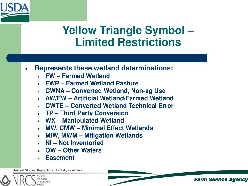 Yellow Triangle Symbol –