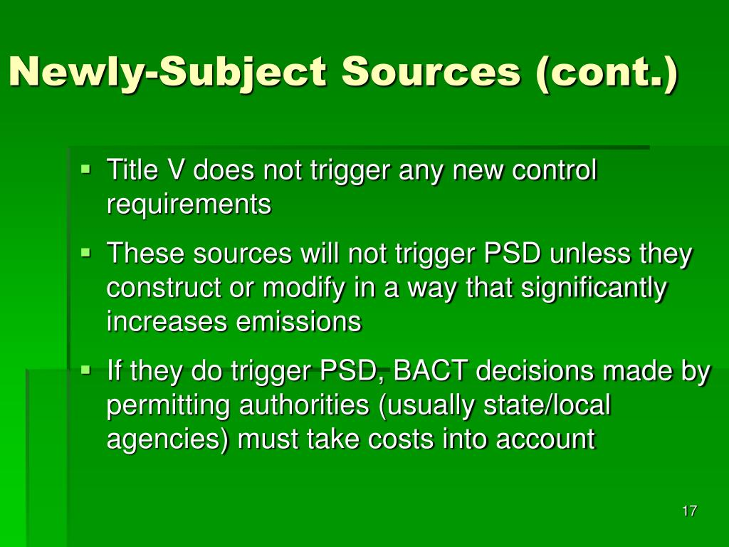 Newly-Subject Sources (cont.)