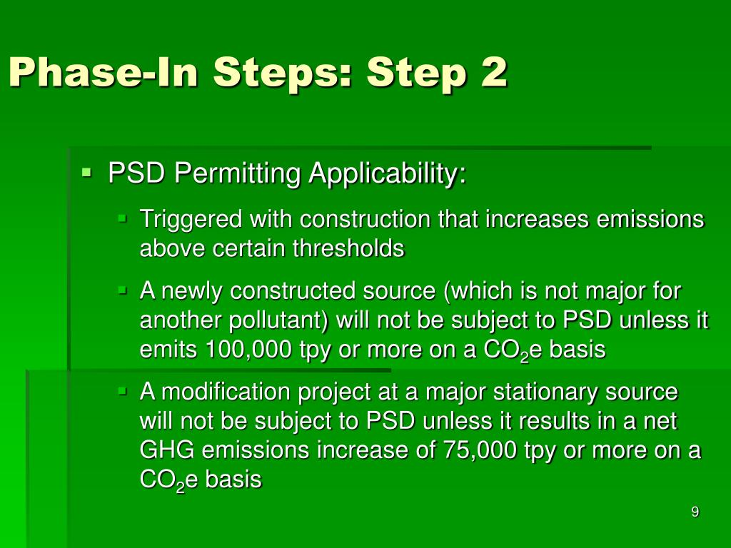 Phase-In Steps: Step 2