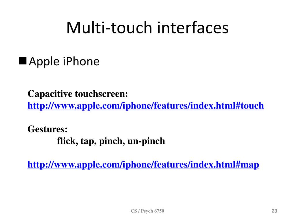 Multi-touch interfaces