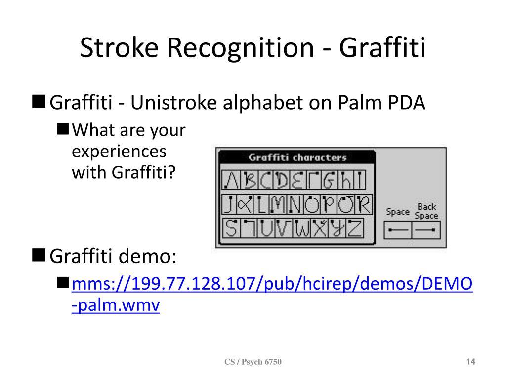Stroke Recognition - Graffiti