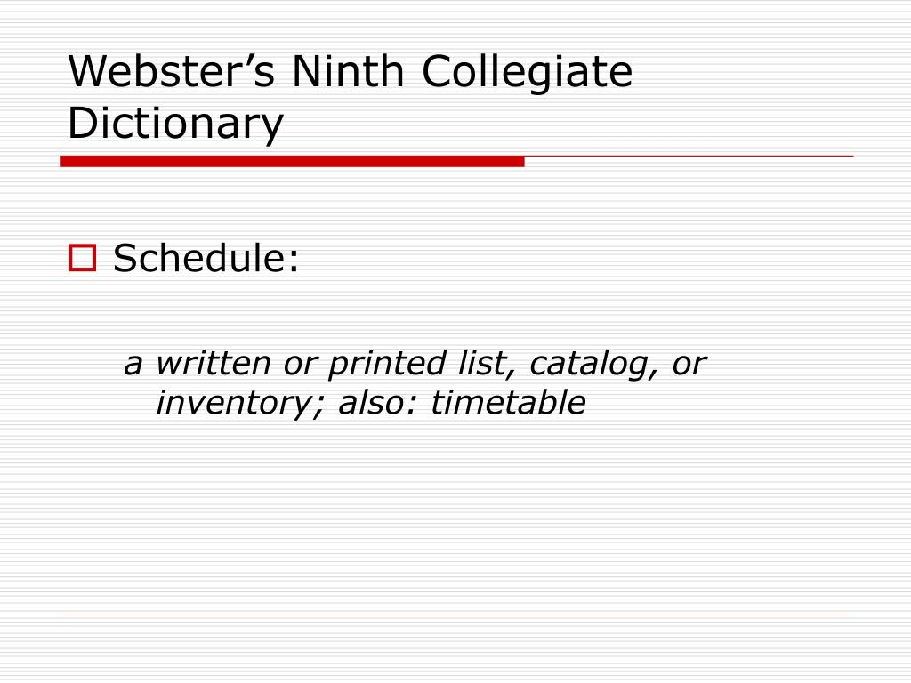 Webster's Ninth Collegiate Dictionary