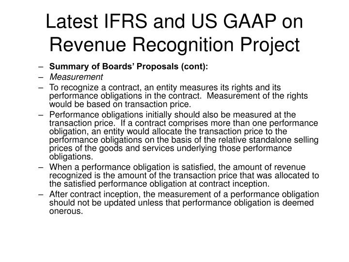 revenue recognition under us gaap and ifrs Cfa level-i financial reporting analysis finquizcom 1 cfa level-i financial reporting analysis finquizcom 2 under ifrs, revenue from.