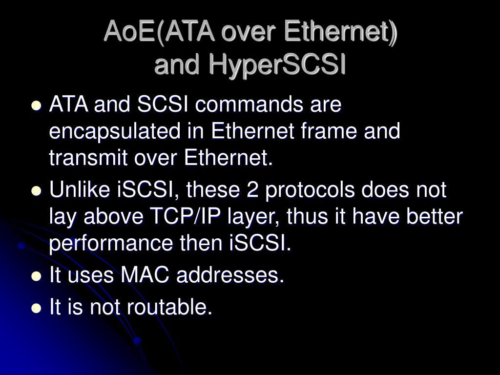 AoE(ATA over Ethernet)