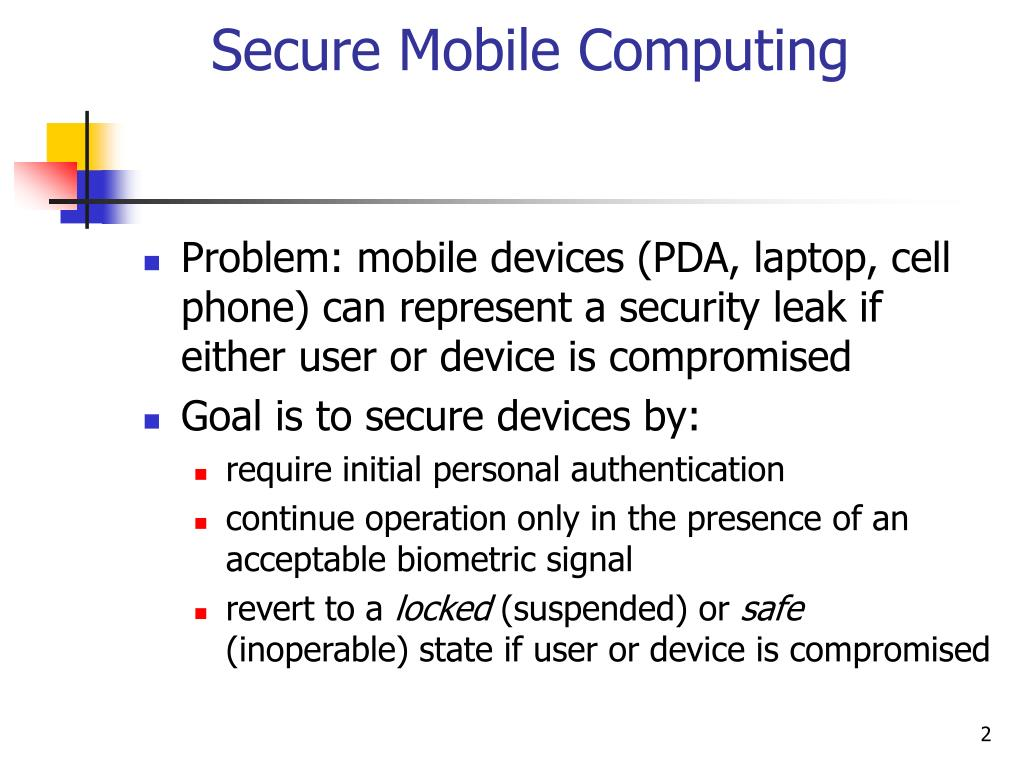 Secure Mobile Computing