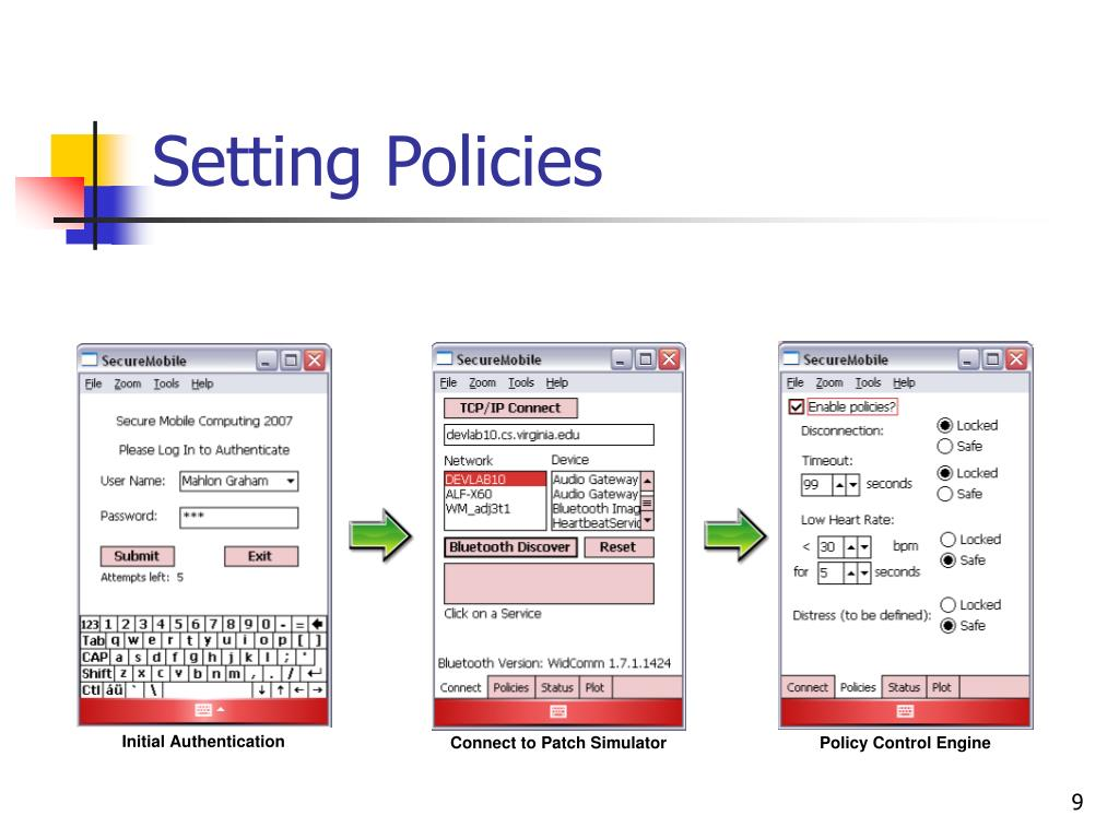 Setting Policies