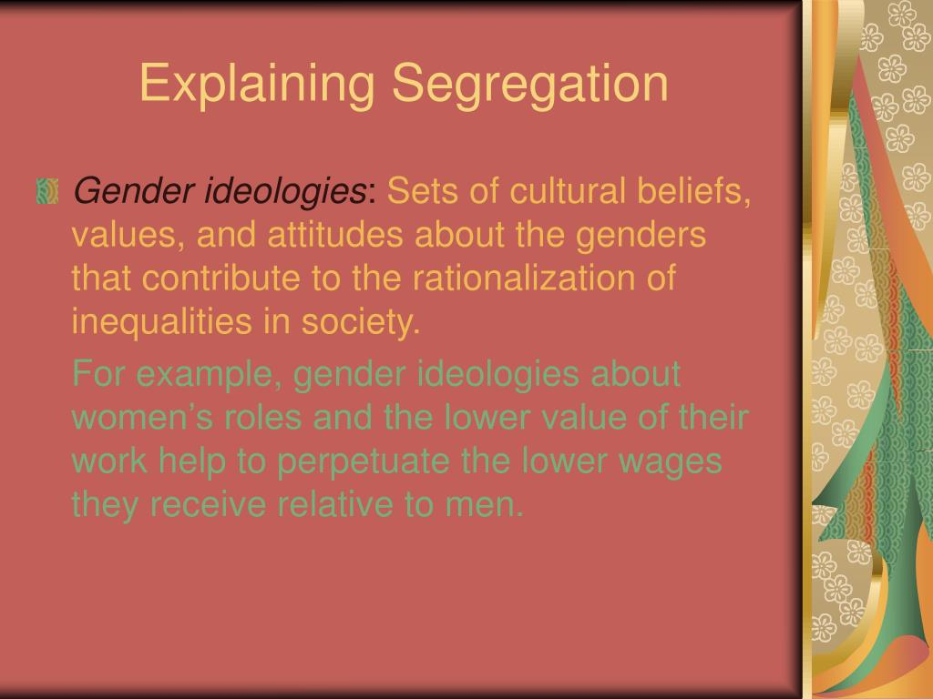 Explaining Segregation