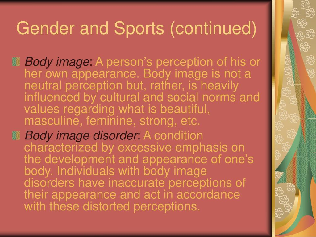 Gender and Sports (continued)
