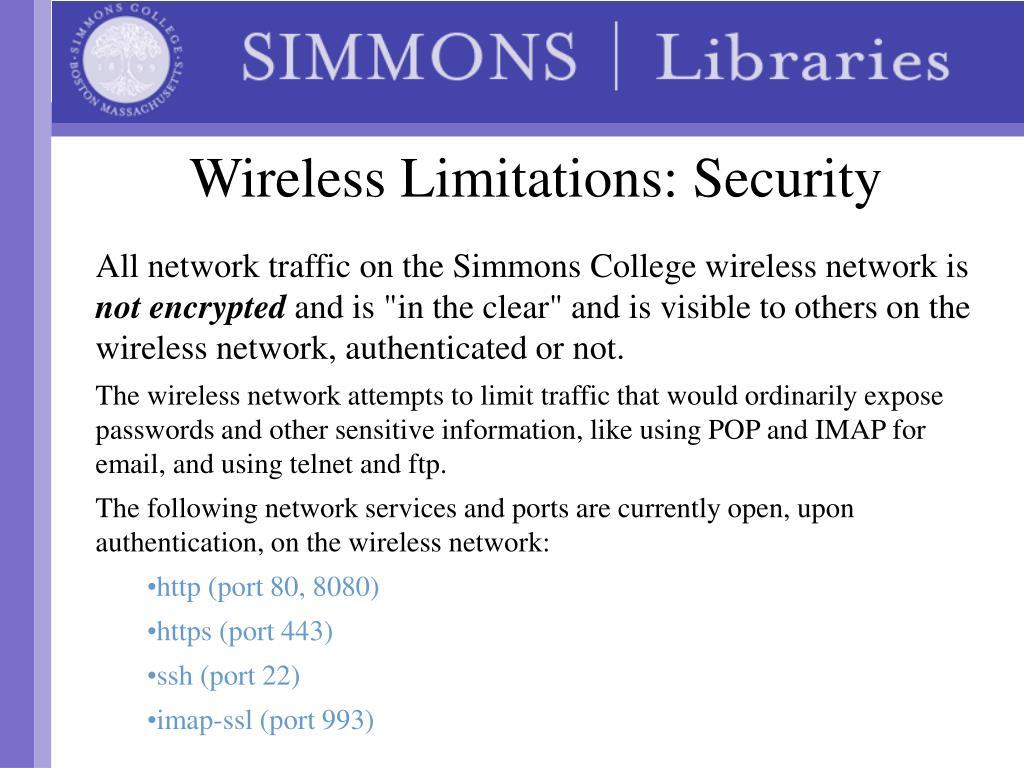 Wireless Limitations: Security