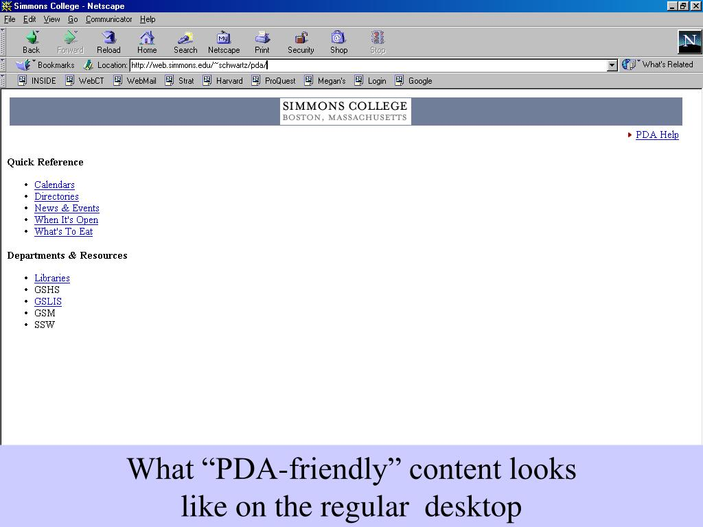 """What """"PDA-friendly"""" content looks"""