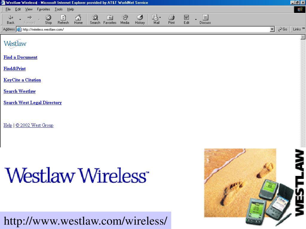 http://www.westlaw.com/wireless/