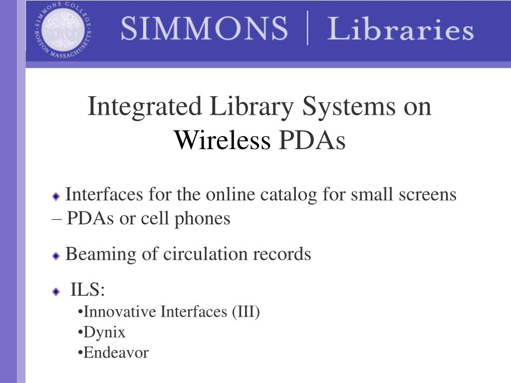 Integrated Library Systems on