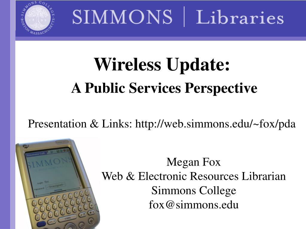 Wireless Update: