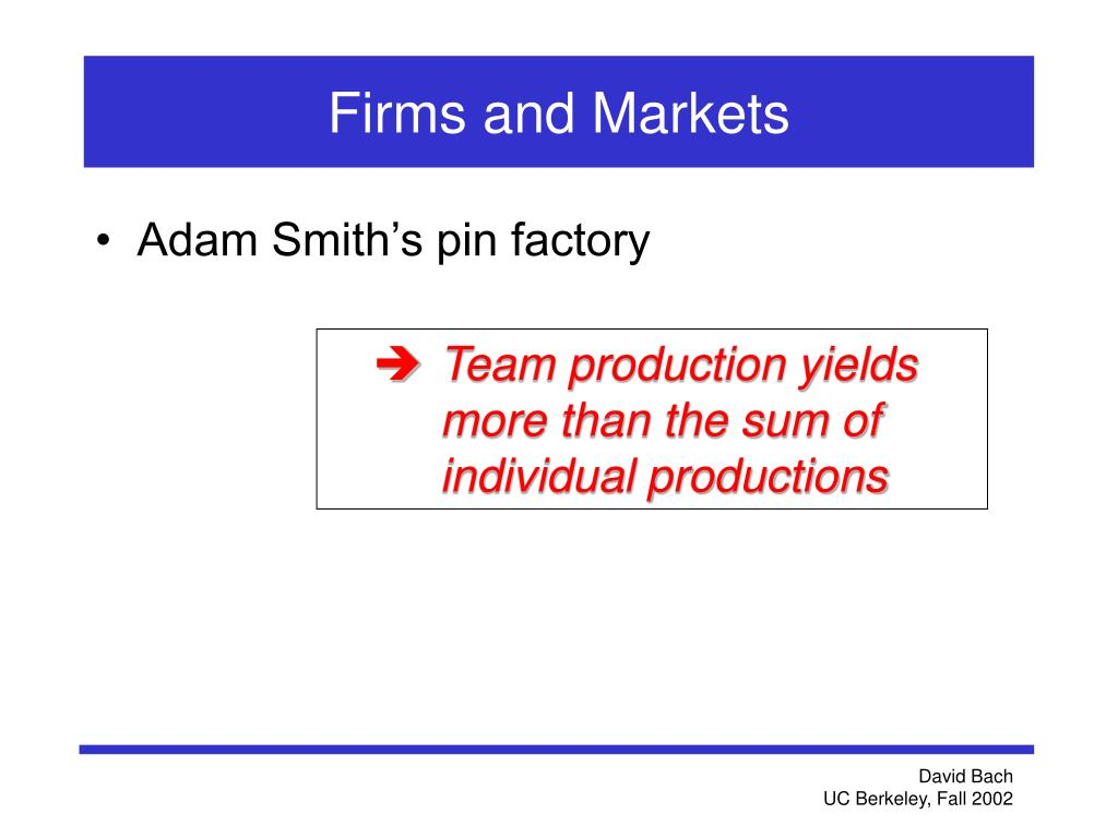 Firms and Markets
