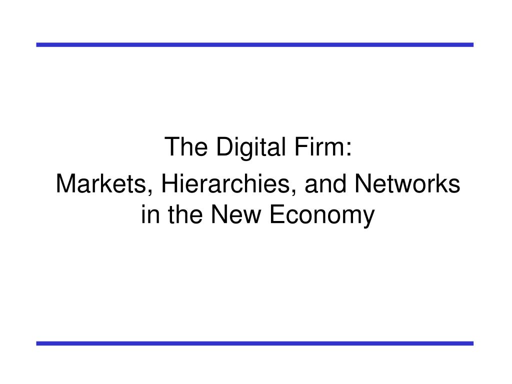 The Digital Firm:
