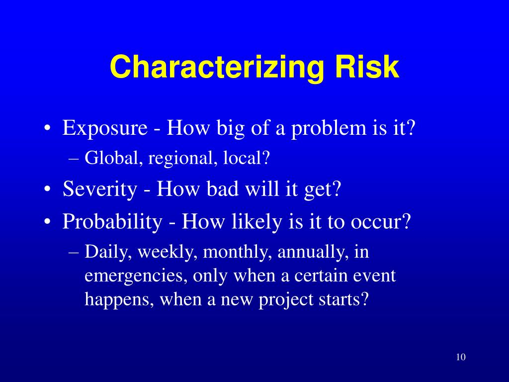 Characterizing Risk