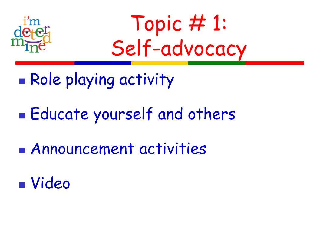 Topic # 1: