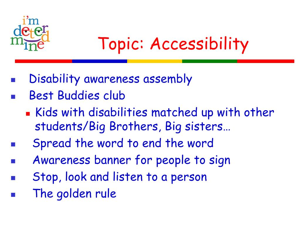 Topic: Accessibility
