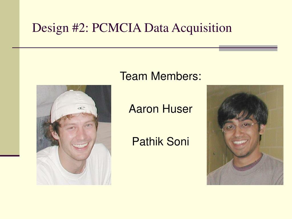 Design #2: PCMCIA Data Acquisition