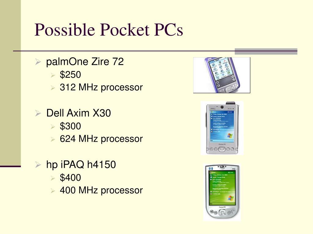 Possible Pocket PCs