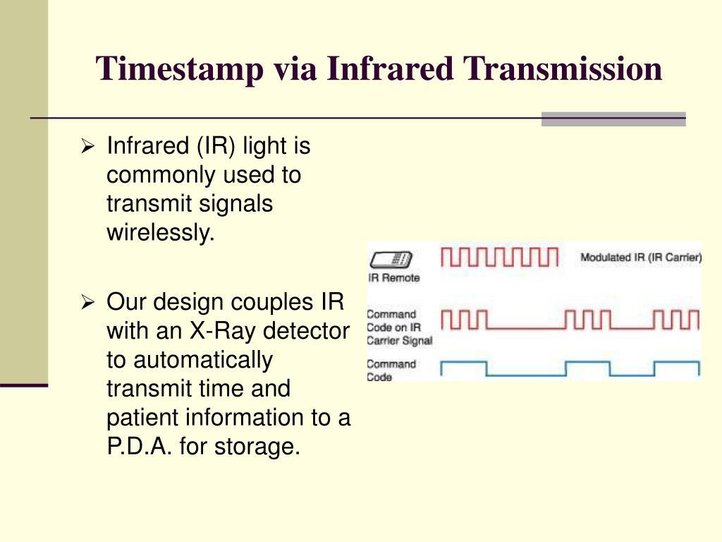 Timestamp via Infrared Transmission