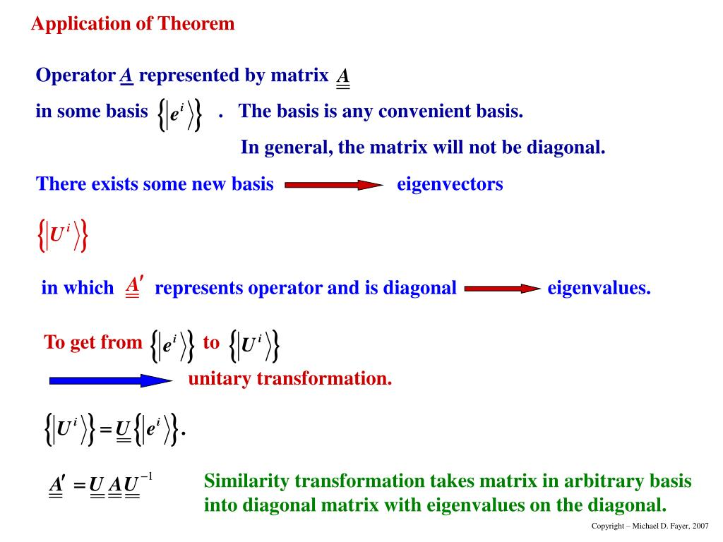There exists some new basiseigenvectors