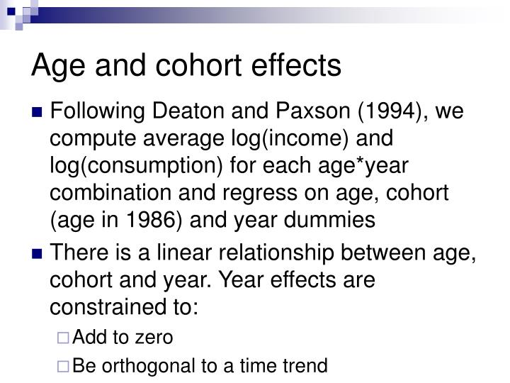 Age and cohort effects