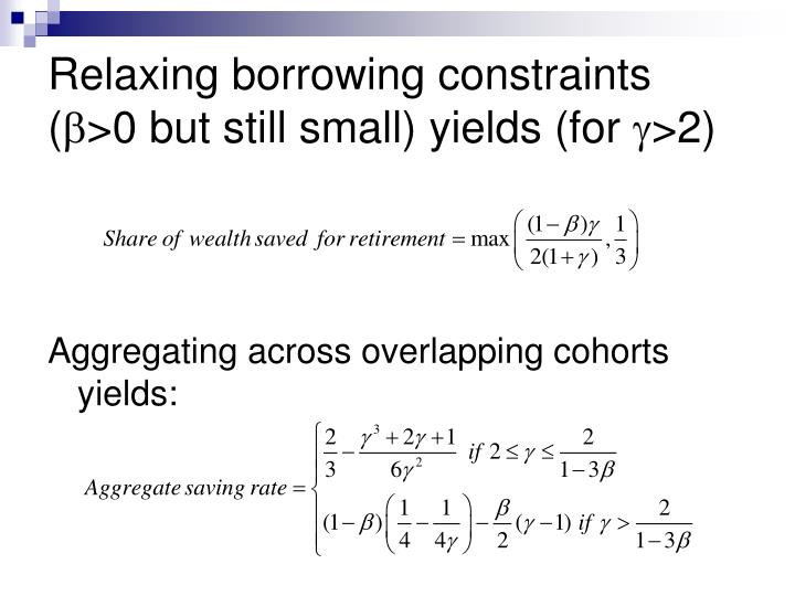 Relaxing borrowing constraints (