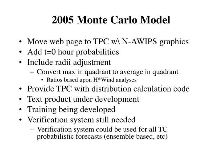 2005 Monte Carlo Model