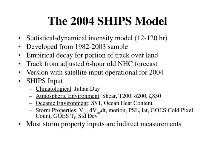 The 2004 SHIPS Model