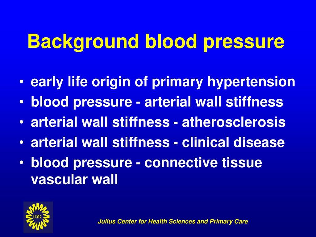 Background blood pressure