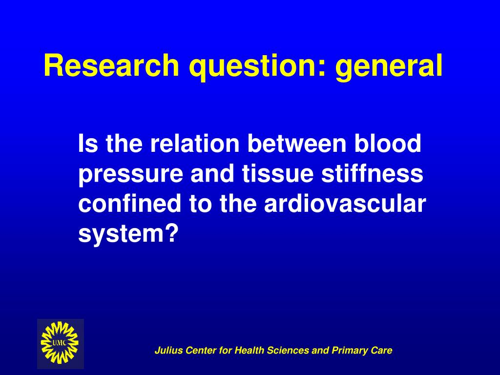 Research question: general
