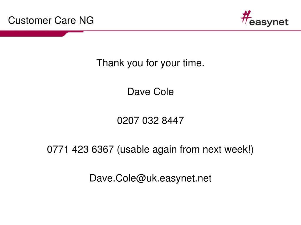 Customer Care NG