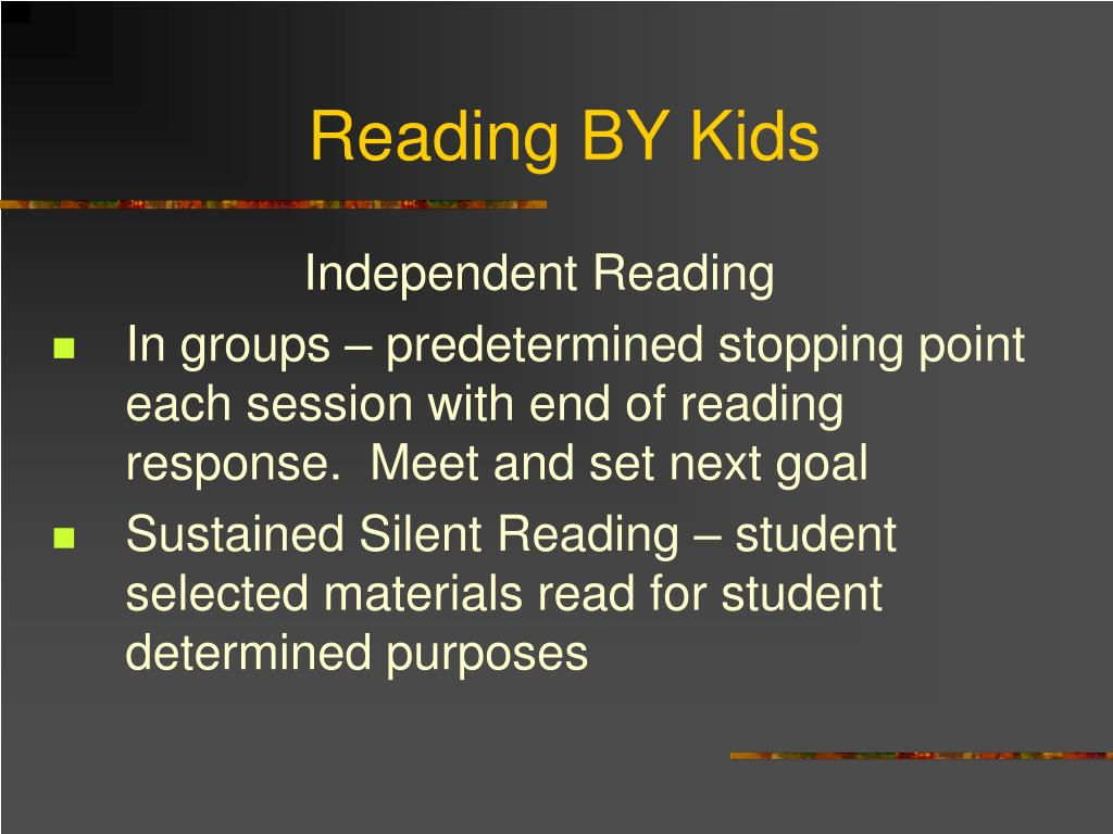 Reading BY Kids