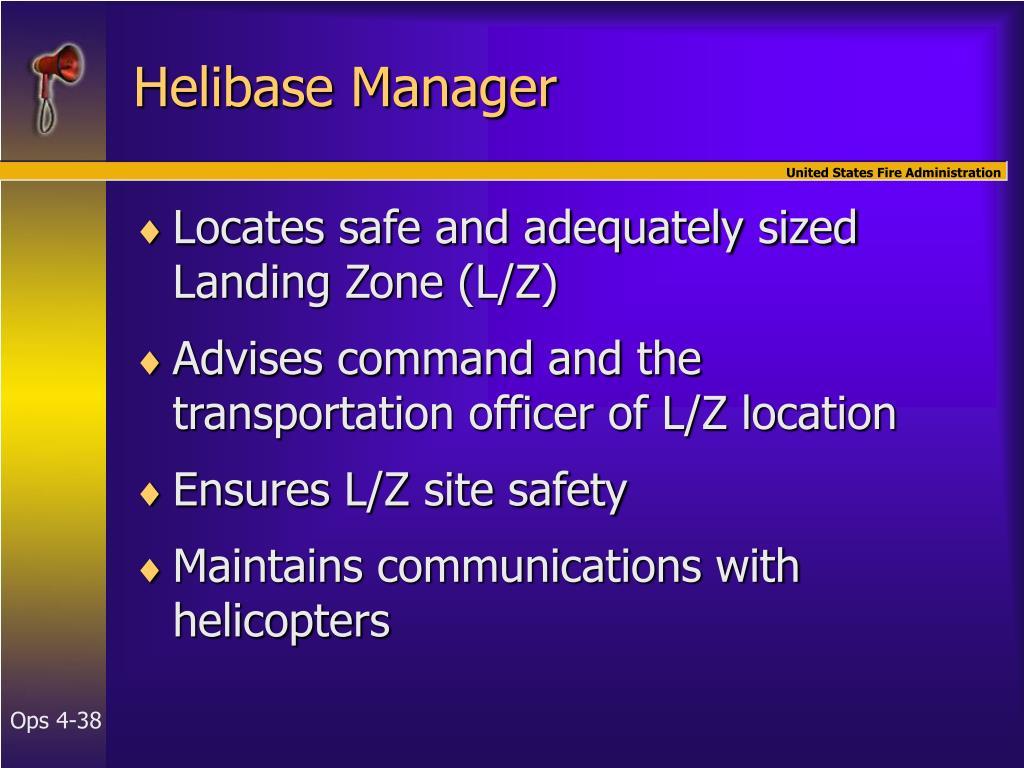 Helibase Manager
