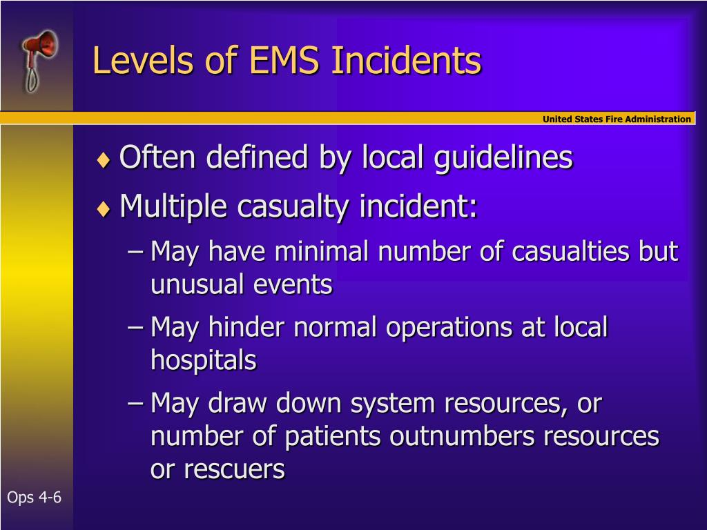 Levels of EMS Incidents
