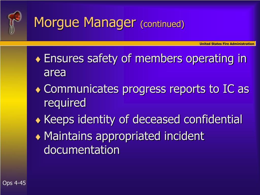 Morgue Manager